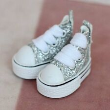 "12"" Blythe Doll outfit Fashion MICRO Shoes (Silver)"