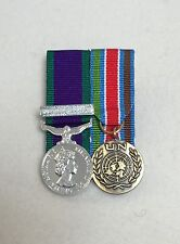 Court Mounted Miniature Medals, GSM Northern Ireland & UN Bosnia, Mini, Army