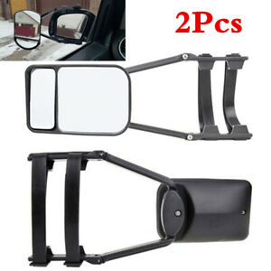 2PCS Car Trailer Towing Dual Mirror Adjustable Clip-on Extension Towing Mirrors