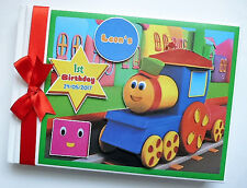 PERSONALISED BOB THE TRAIN BIRTHDAY GUEST BOOK / ALBUM - ANY DESIGN
