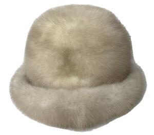 VTG Adolfo II New York Paris Fur Warm Winter Hat Fits Small