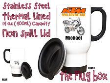 KTM 990 Adventure Personalised Thermal Steel Mug. Perfect Gift!(MB116)
