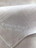 Jugendstil 1 Historisch Palace Hotel 1904 Stoffserviette Serviette weiß Leinen