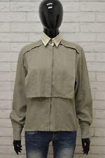 Camicia BYBLOS Donna Taglia 40 L Maglia Blusa Shirt Woman Cotone Lana Regular
