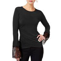 KOBI NEW Women's Lace-trim Long Sleeve Blouse Shirt Top TEDO