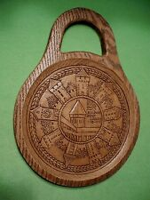 Vintage wood carved 800th Anniversary of JAHRE STADT LUZERN wall decoration. Exc