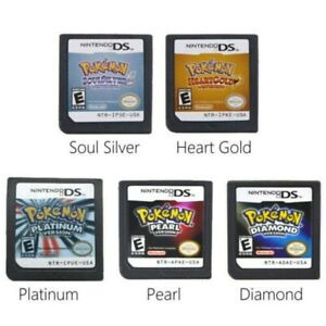 Pokemon HeartGold SoulSilver Platinum Game Card For Nintendo 3DS DS Lite DSi NDS