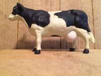 Vintage Large Heavy Cast Iron Cow Figure Coin Bank Door Stop 0170-04641