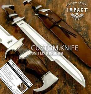 IMPACT CUTLERY RARE CUSTOM MASSIVE D2  SUB HILTED PREDATOR BOWIE KNIFE