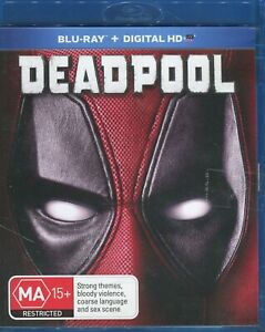 Deadpool - Blu Ray Disc - Region B - Disc Like New - Free Postage