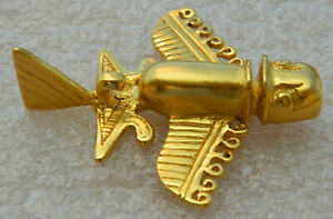 "Ancient Pre-Colombian Gold Flyer II - Replica Pin (Tolima / ""Quimbaya"" Culture)"