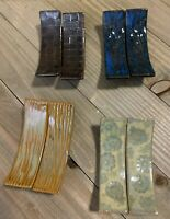 "8 Vintage Porcelain Knife Rests 2 7/8"" Long (4 different designs)"