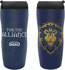 OFFICIAL WORLD OF WARCRAFT ALLIANCE TRAVEL MUG COFFEE MUG NEW IN BOX ABY *