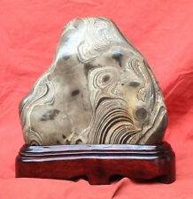 45.SUISEKI BONSAI -- Natural chinese zebra stone  --斑马石- qsz62134616