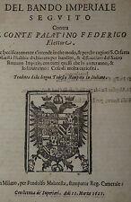 Guerra 30 Anni - Cacciata dopo sconfitta Bando Conte Palatino Federico 1621