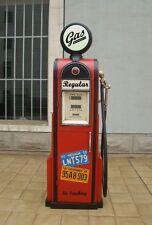 Tanksäule Zapfsäule Gasoline Höhe155cm Dekoration mit beleuchtetem Globe