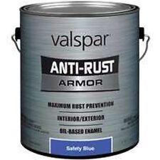 NEW GALLON VALSPAR 9834409 SAFETY BLUE ANTI-RUST INDUSTRIAL ENAMEL OIL PAINT