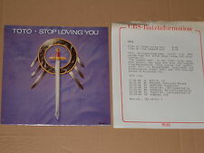 "TOTO -Stop Loving You- 7"" mit Product Facts Promo-Flyer"