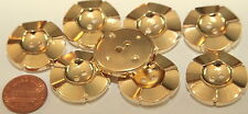"8 Large Gold Tone Plastic Buttons Flower Floral 1"" 25mm # 5624"