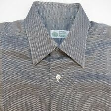 BORRELLI NEIMAN MARCUS MADE IN ITALY PEARL BUTTON UP DRESS SHIRT Mens 15.5 L