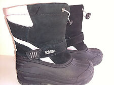 TOTES PAC PINK Snow Boots Girls Size 4M 4  M Medium Black Pink Removable Liner