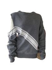 Maurie & Eve 12 Grey W/white Stripe Cold Shoulder Jumper