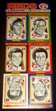 1976 Linnett Superstars CINCINNATI REDS  Complete 12-Card Set  CARS & SHIPS