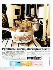PUBLICITE ADVERTISING 116  1973   les plats mijoteuse Pyroflam