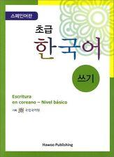 Writing Korean for Beginners-Korean Language Hangeul Training Book for Spansish