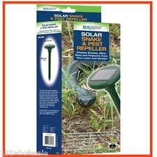 Sunforce SOLAR Snake Pest Rodent MultiPulse Sound Vibration Repeller Mole Garden