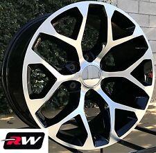 "20"" inch 20 x9"" Wheels for Chevy Silverado 1500 Black Machined Rims CK156"