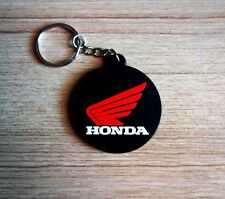 HONDA Red wing Keychain Keyring Rubber Motorcycle Bike Car Collectible Gift new