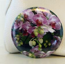 FLORAL POCKET MIRROR GIFT BAG ORCHID STOCKING FILLERS  MAKE UP HANDBAG FLOWER