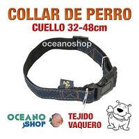 COLLAR PERRO TEJIDO VAQUERO AJUSTABLE DE CALIDAD CUELLO 32-48 L59 2803
