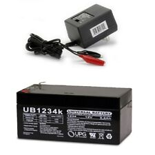 NEW UB1234 12V 3.4AH Replacement Battery 4 Toro Lawn mower # 106-8397 & CHARGER