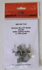 Quick Boost Kamov Ka-27 Helix Seats w/ Belts in 1/48 714  for Hobby Boss  ST