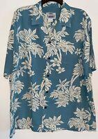 Island Aloha Wear Vintage Hawaiian Camp Shirt Men's Size XL Made in Hawaii USA