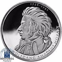 Deutschland 10 Euro Wolfgang Amadeus Mozart 2006 Silber-Münze Spiegelglanz
