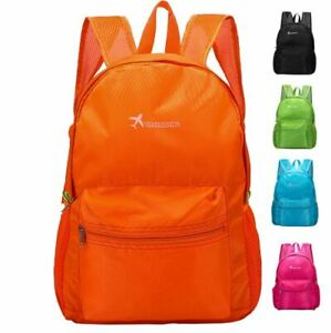 17L Water Resistant Foldable Cycle School Hiking Camping Backpack Rucksack