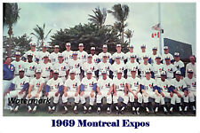 1969 Inaugural Season Montreal Expos Color Team Picture 8 X 12 Photo Free Ship