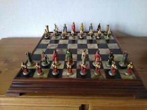 Chess Set Medieval King Arthur Knights .