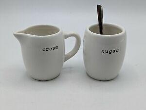 Pottery Barn Coffee House Cream Sugar Condiment Ceramic