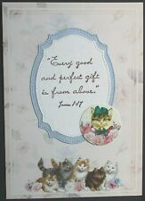 6 Handcrafted Cards, Flowers Cats Birthday Thinking of You Every Good Gift