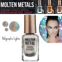 Barry M Makeup Molten Metals Range Nail Paint - Nail Varnish Holographic Lights
