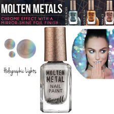 Barry M Makeup Molten Metals Range Nail Paint - Nail Varnish Holographic Lights