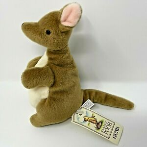 "Gund Classic Pooh Disney Winnie the Pooh Plush Roo Aprox 7"" Kangaroo"