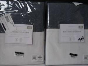 "pottery barn kids (2) Hayden Rugby Grommet Blackout Curtain Panel 44"" x 63"", Nwt"