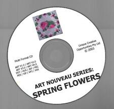 Art Nouveau Series SPRING FLOWERS for Embroidery Jenny Haskings Designs with CD