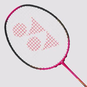 YONEX Nanoflare Feel Badminton Racquet NF-FGE Magenta, 4UG5, Pre-Strung