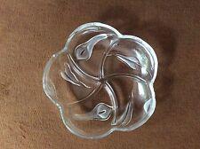 Glasschale Gebäckschale Schale Tischschmuck Tischdeko Blumen calla 4-geteilt